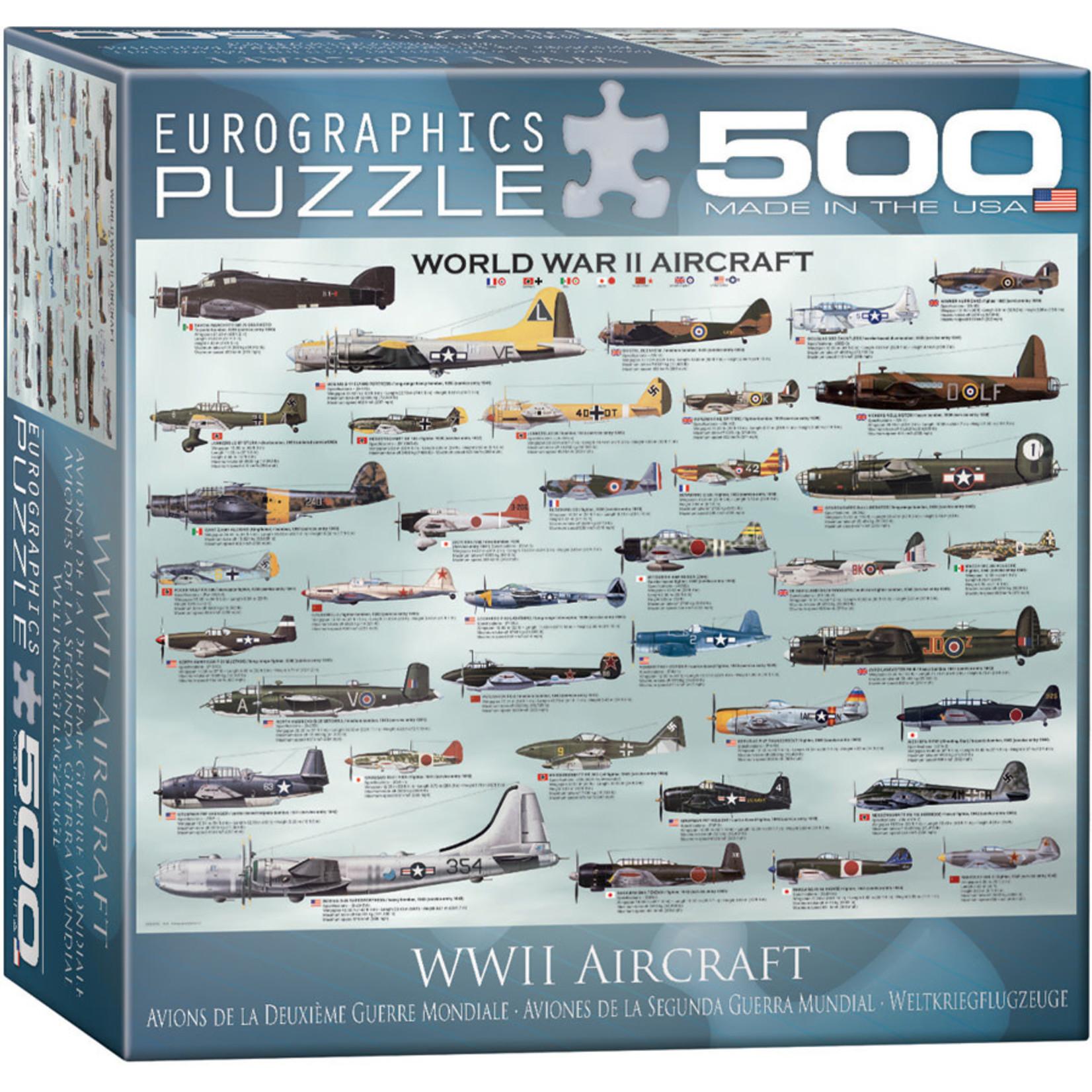 Eurographics Eurographics Puzzle: WWII Aircraft - 500pc