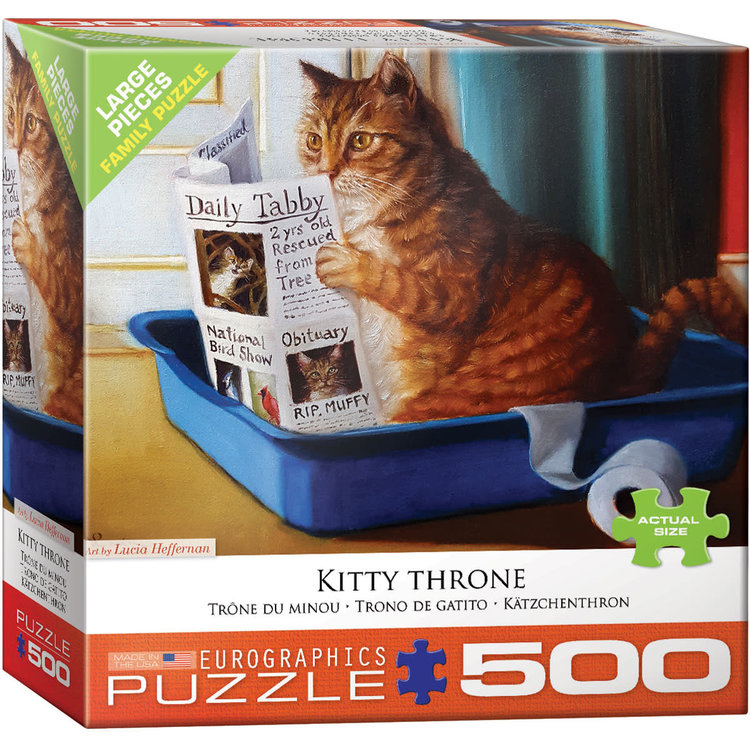 Eurographics Eurographics Puzzle: Kitty Throne - 500pc