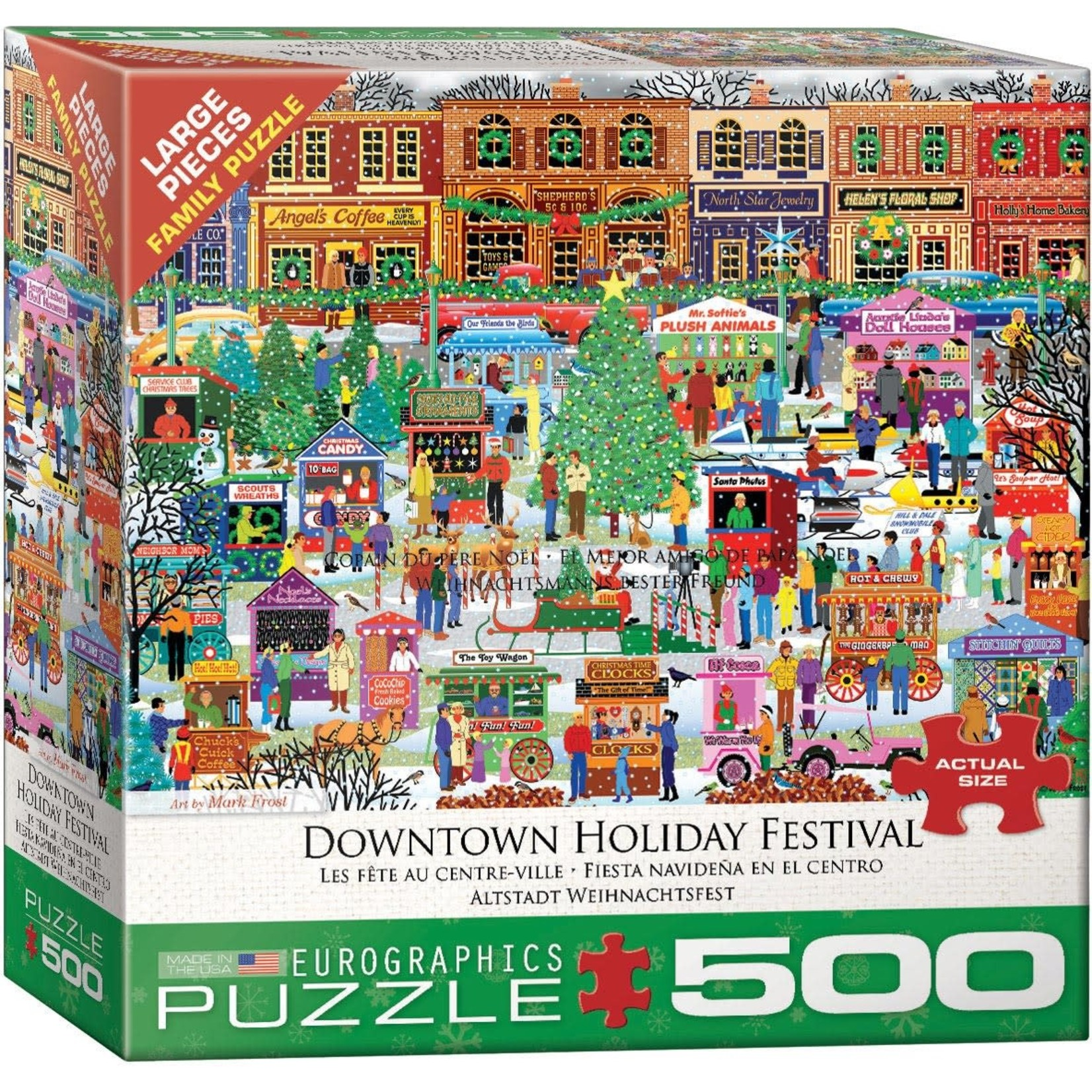Eurographics Eurographics Puzzle: Downtown Holiday Festival - 500pc