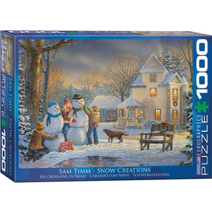 Eurographics Eurographics Puzzle: Snow Creations - 1000pc