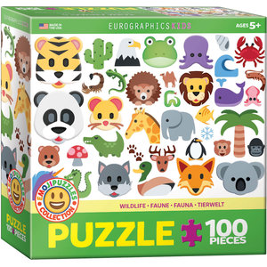 Eurographics Eurographics Puzzle: Emoji Wildlife Animals - 100pc