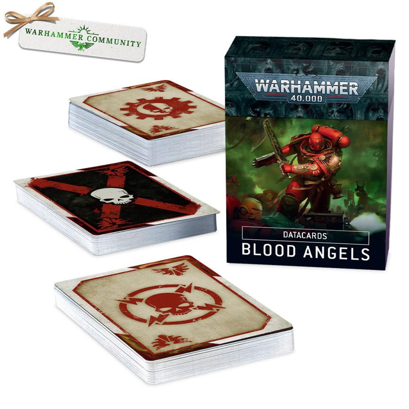 Games Workshop Warhammer 40k: Blood Angels - Datacards