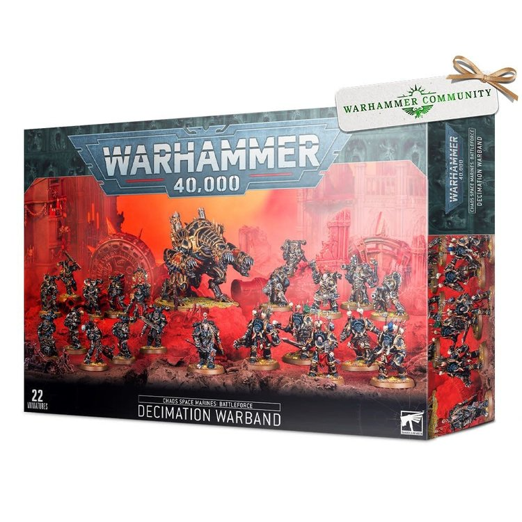 Games Workshop Warhammer 40k: Chaos Space Marines Battleforce – Decimation Warband