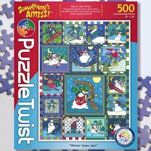 Puzzle Twist Puzzle Twist - 500 Piece Puzzle: Winter Snow Jam