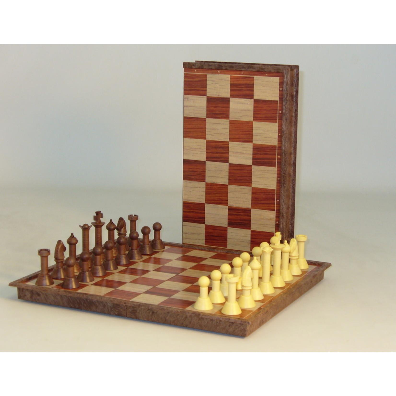 WorldWise Imports Folding Woody Magnetic Chess Set - 11' board
