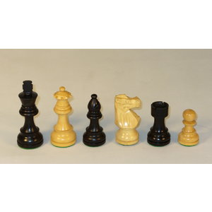 "WorldWise Imports Chess: 3"" Black/Natural French Chessmen"