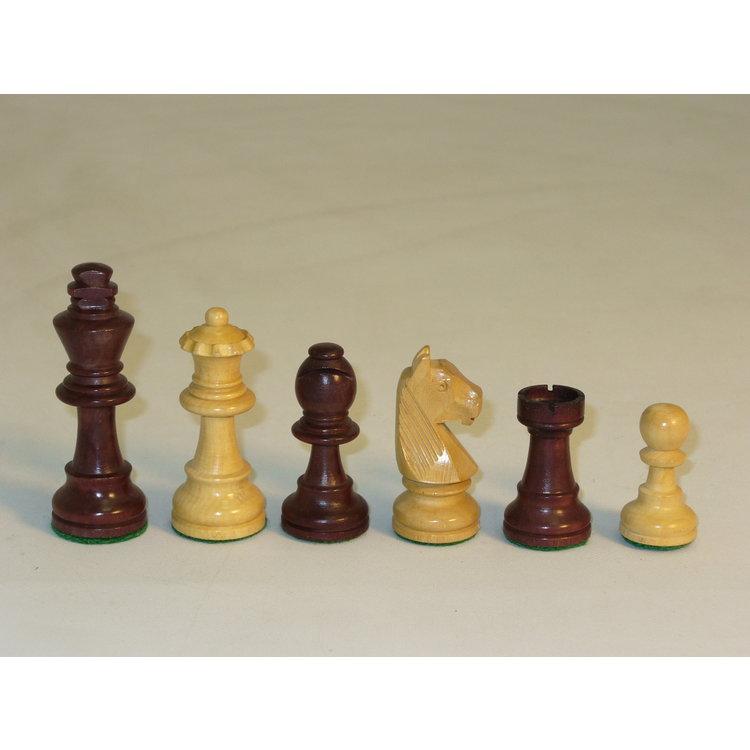 "WorldWise Imports Chess: 3"" Walnut Stain German Chessmen"