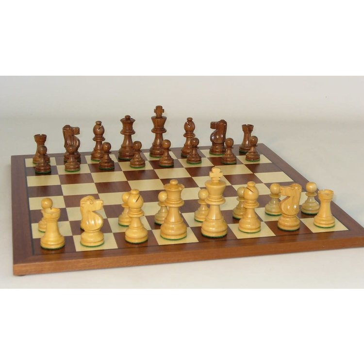 "WorldWise Imports Chess - 3"" Sheesham French on Maple Board"