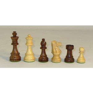 """WorldWise Imports Chess: 3.75"""" Sheesham French Chessmen"""