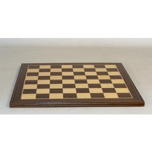 """WorldWise Imports Chess Board - Ebony/Maple Veneer 14"""" board"""