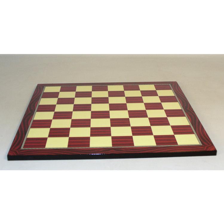 """WorldWise Imports Chess Board - Red Grain Decoupage 17"""" board"""