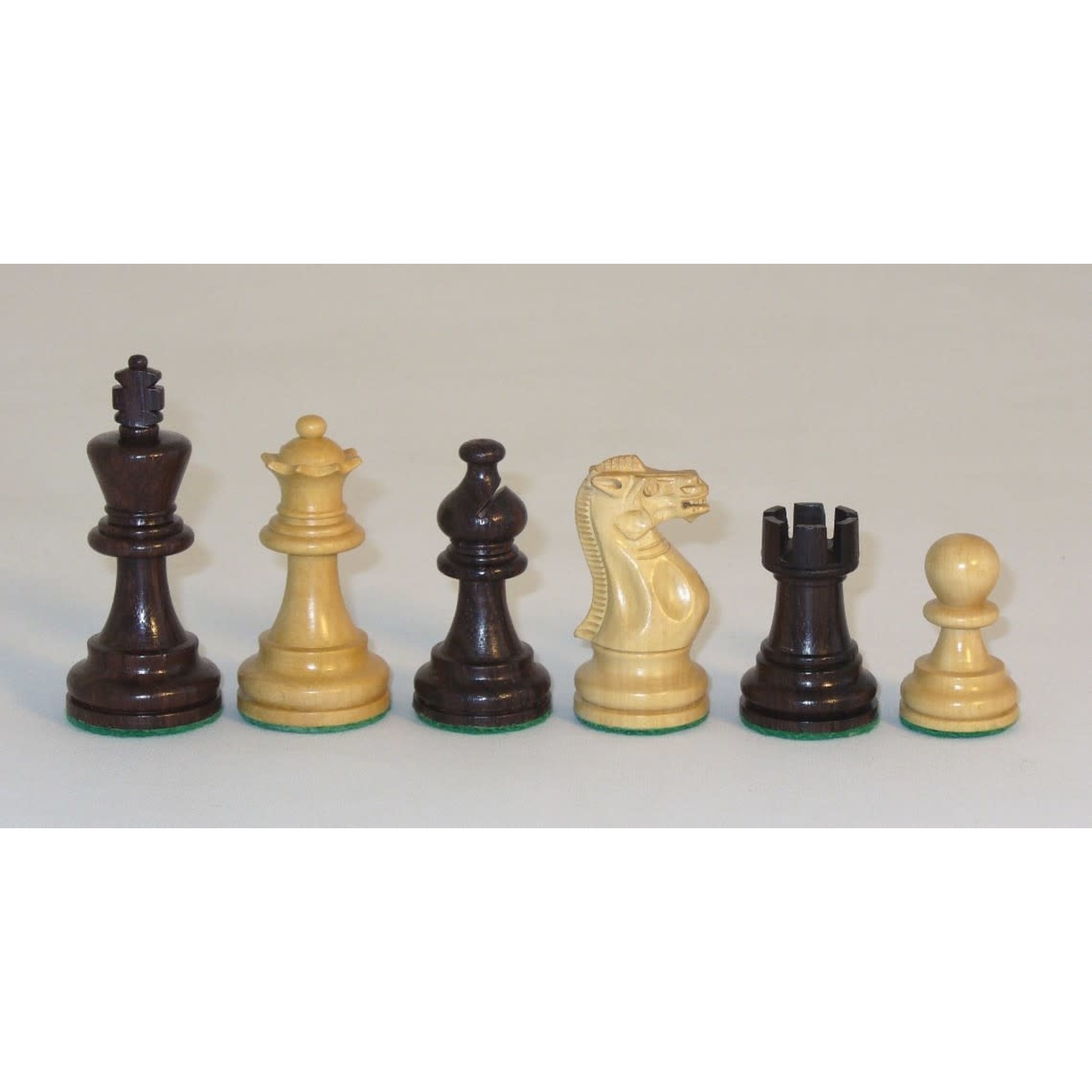 """WorldWise Imports Chess: 3"""" Rosewood American Emperor Chessmen"""