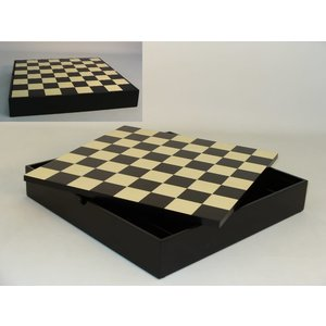 "WorldWise Imports Chess: 3.5"" Black Russian Chessmen w/ 13.25"" Black/ Maple Chest"