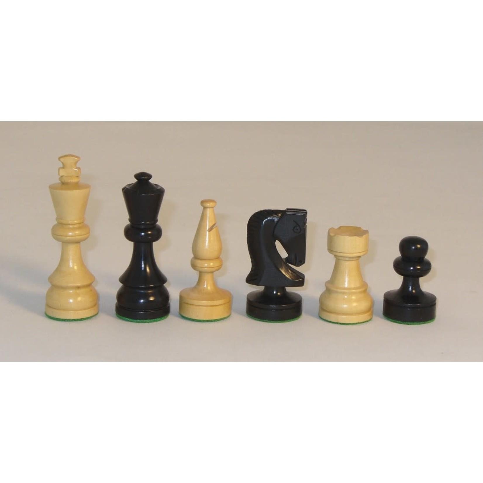 "WorldWise Imports Chess: 3.5"" Black Russian Chessmen w/ 13.25"" Black/ Maple Chest"