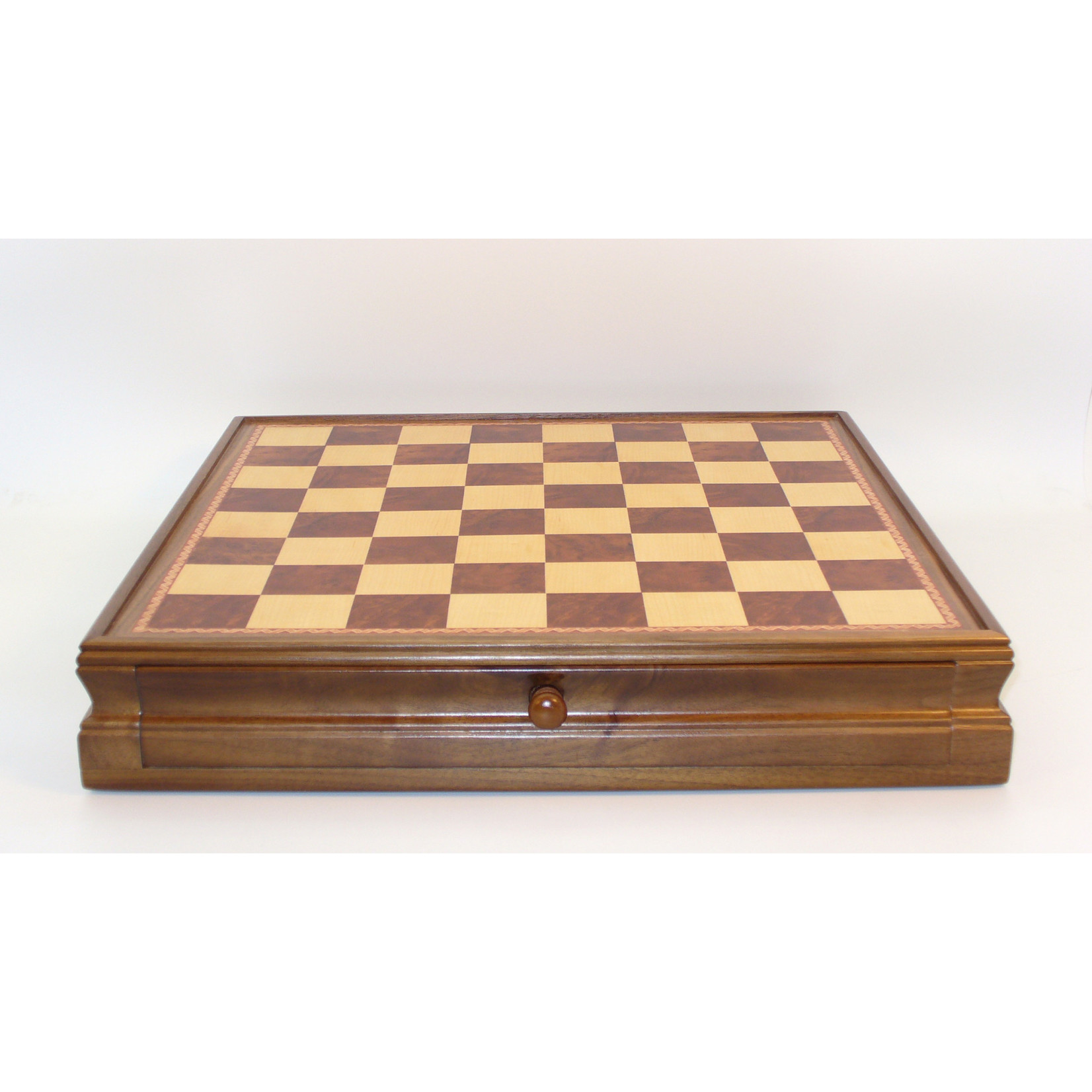 "WorldWise Imports Chess: 15"" Walnut Maple Chest w/ drawer"