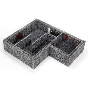 WizKids Wizkids D&D WarLock Tiles: Dungeon Tiles II - Full Height Stone Walls