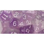 Roll 4 Initiative Polyhedral Dice: Diffusion Amethyst White- Set of 7