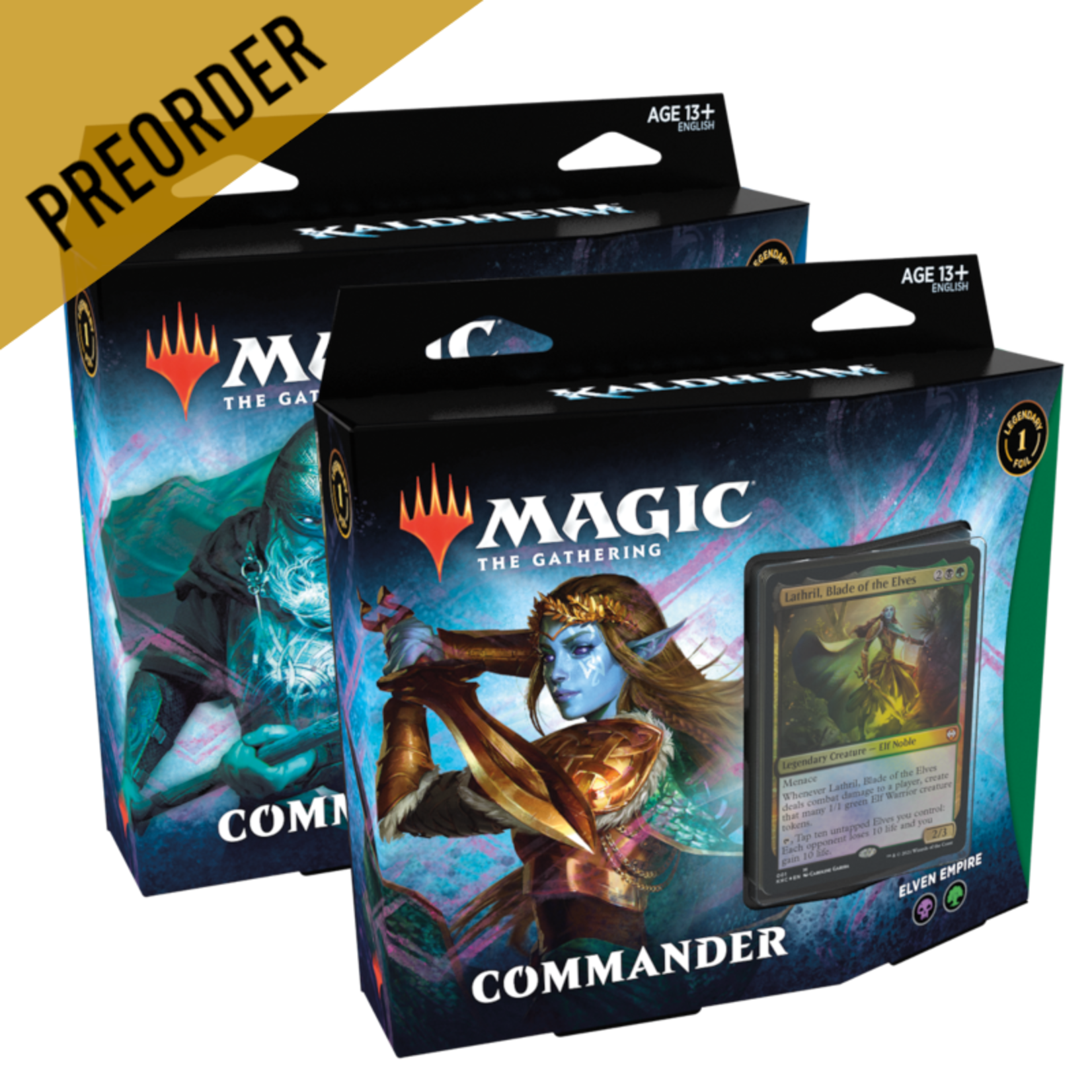 Wizards of the Coast Magic the Gathering: Kaldheim - Two Commander Decks (Preorder)