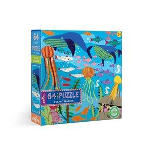 eeBoo eeBoo Puzzle: Ocean Treasure 64 pc