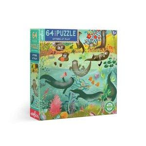 eeBoo eeBoo Puzzle: Otters at Play 64 pc