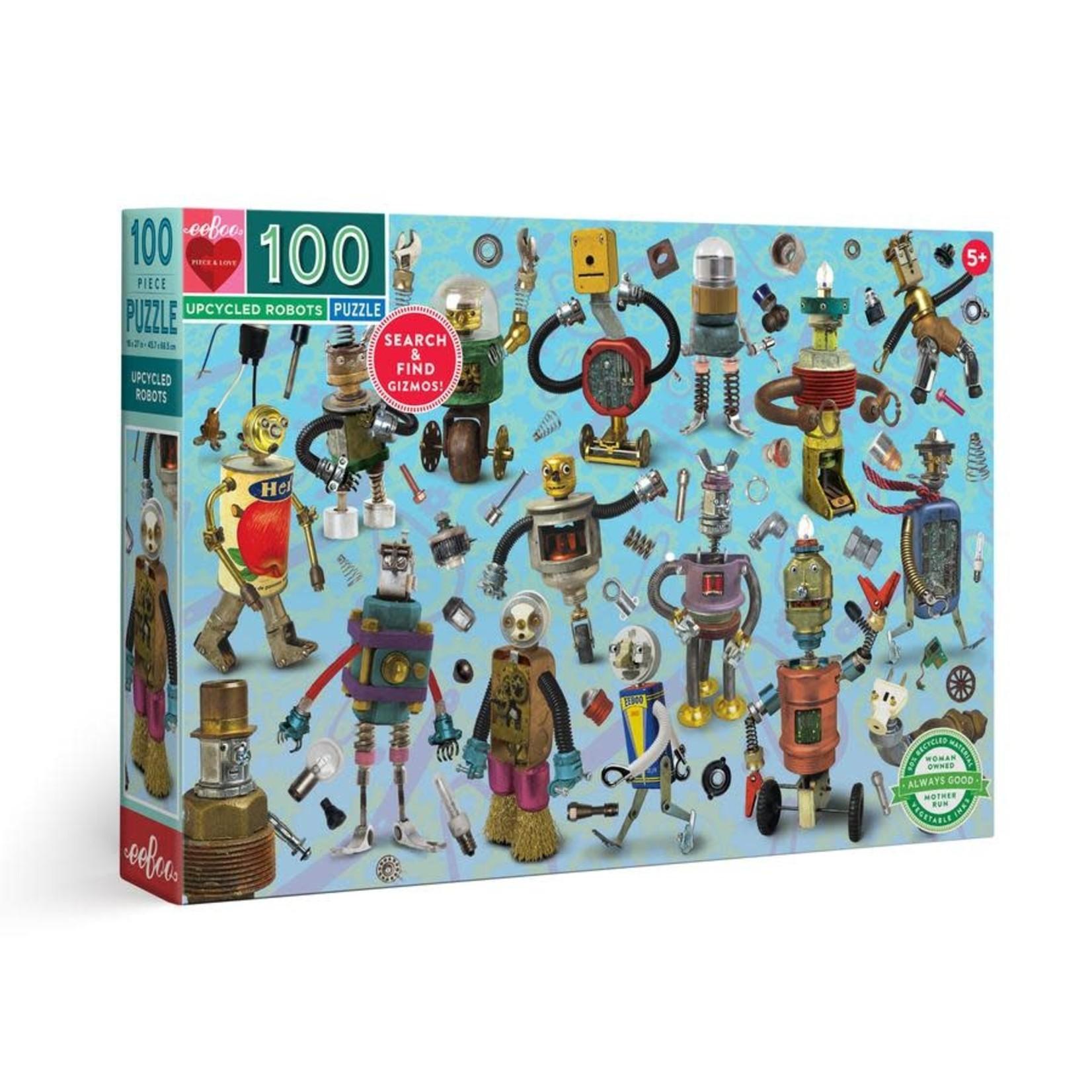 eeBoo eeBoo Puzzle: Upcycled Robots 100 pc