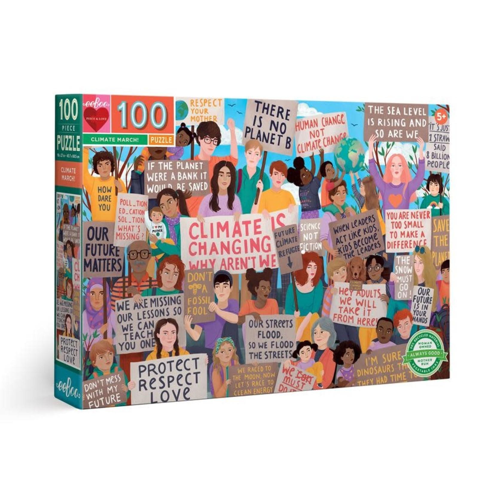 eeBoo eeBoo Puzzle: Climate March!100 pc