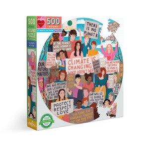 eeBoo eeBoo Puzzle:Climate Action 500 pc Round