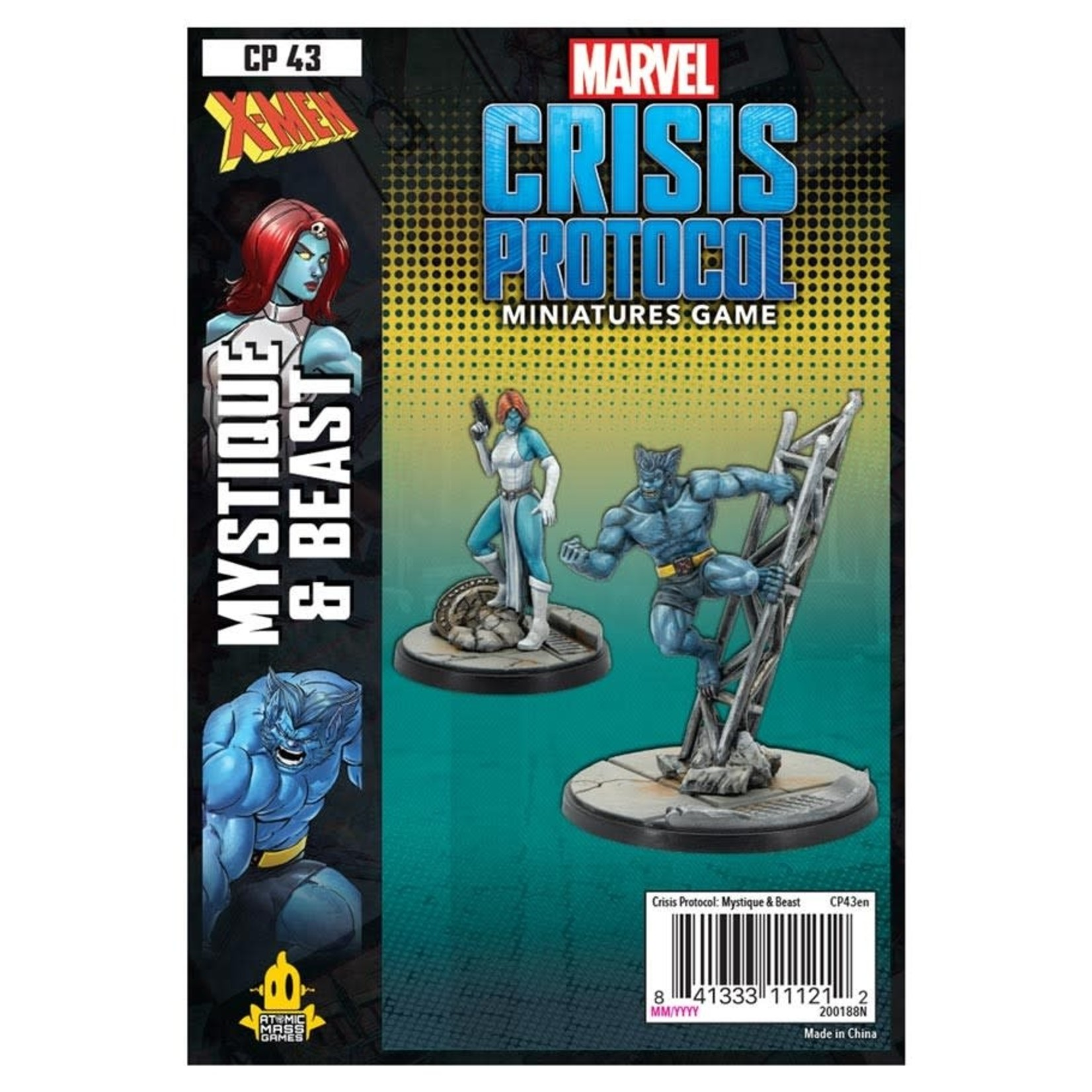 Asmodee Editions Marvel Crisis Protocol: Mystique and Beast Character Pack