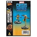 Asmodee Editions Marvel Crisis Protocol: Wolverine and Sabertooth Character Pack