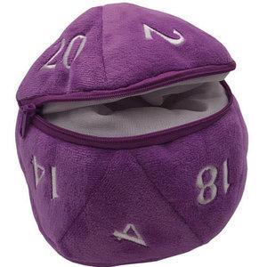 Ultra Pro Ultra Pro d20 Plush Dice Bag : Purple