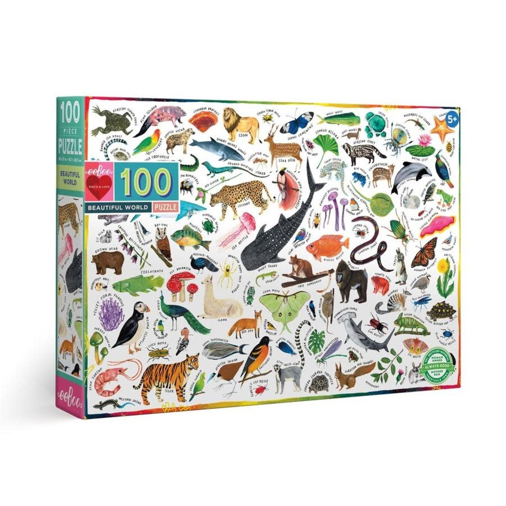 eeBoo eeBoo Puzzle: Beautiful World 100 pc