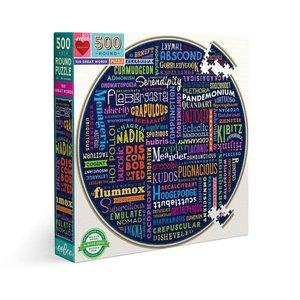 eeBoo eeBoo Puzzle:  100 Great Words 500 pc Round