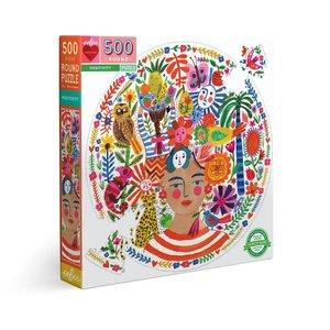eeBoo eeBoo Puzzle:  Positivity  500 pc Round