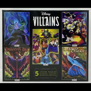 ceaco Ceaco - Disney Villians 5 in 1 Multipack Jigsaw Puzzle