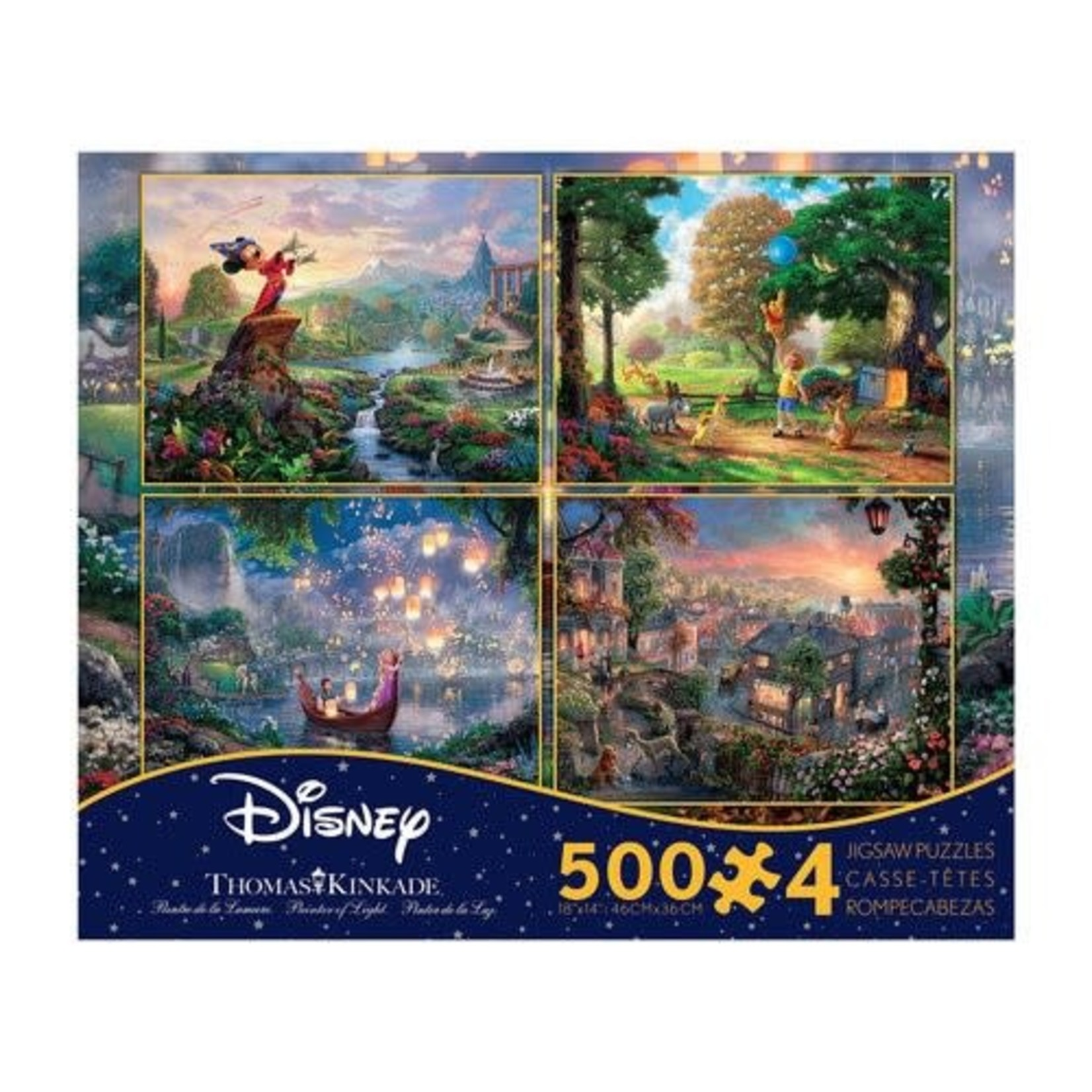 ceaco Ceaco - Thomas Kinkade - the Disney Collection - 4 in 1 Multipack (purple) - Jigsaw Puzzle