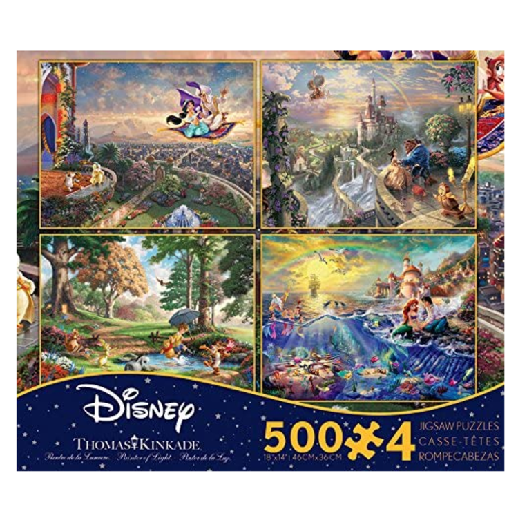 ceaco Ceaco - Thomas Kinkade - the Disney Collection - 4 in 1 Multipack (yellow) - Jigsaw Puzzle