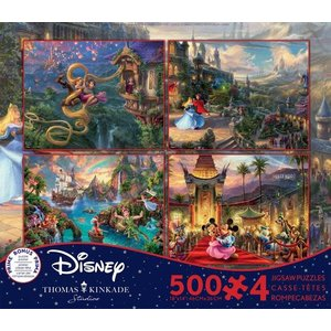 ceaco Ceaco - Thomas Kinkade - the Disney Collection - 4 in 1 Multipack (red) - Jigsaw Puzzle