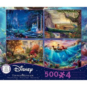 ceaco Ceaco - Thomas Kinkade - the Disney Collection - 4 in 1 Multipack (violet) - Jigsaw Puzzle