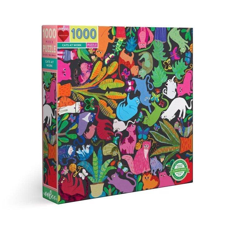 eeBoo eeBoo Puzzle: Cats at Work 100pc