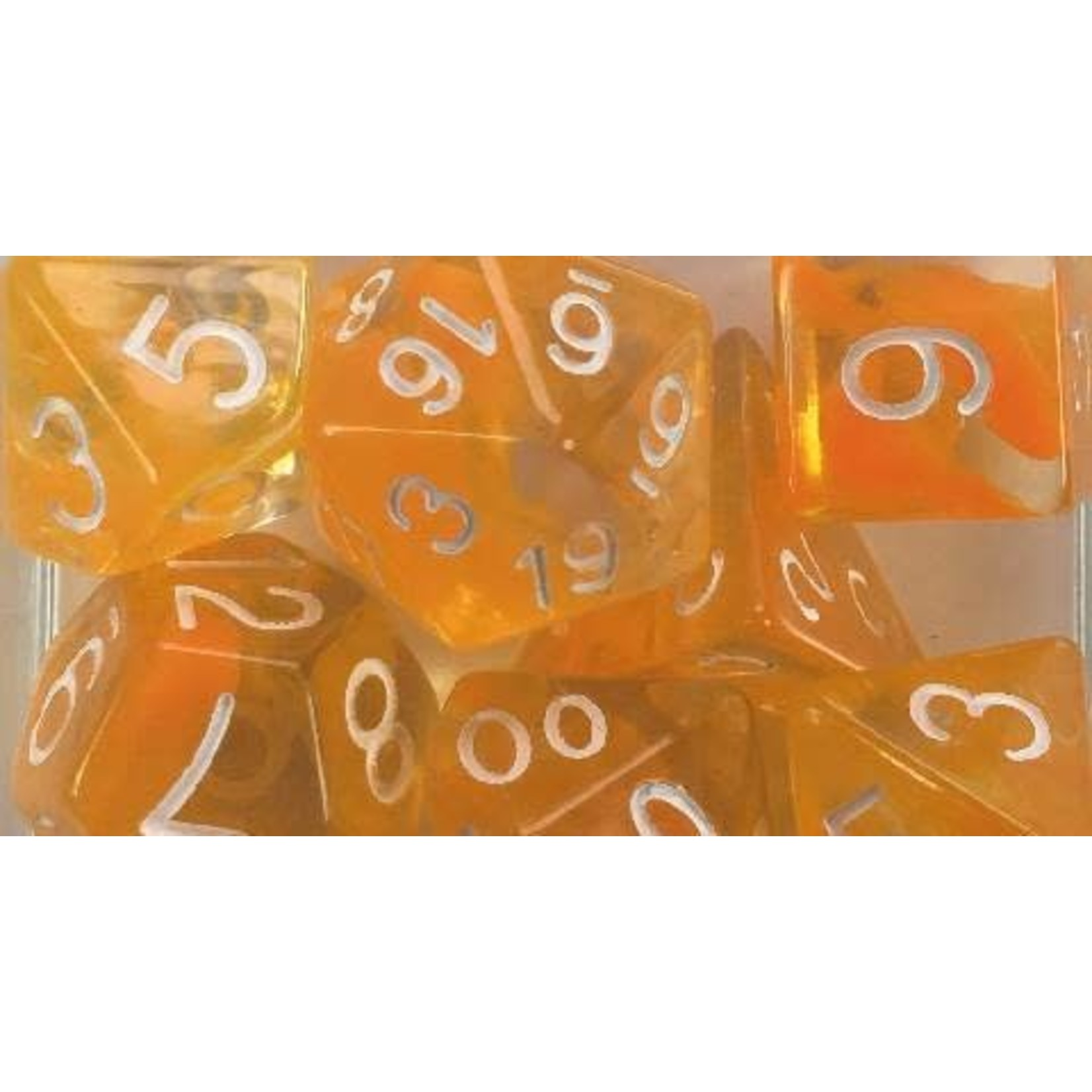 Roll 4 Initiative Polyhedral Dice: Diffusion Citrus White - Set of 15