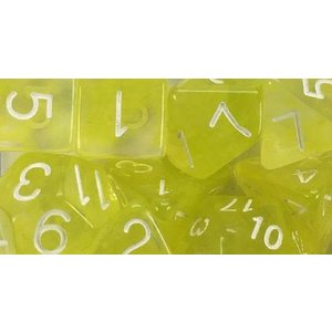 Roll 4 Initiative Polyhedral Dice: Diffusion Ochre Jelly White- Set of 7