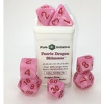Roll 4 Initiative Polyhedral Dice: Faerie Dragon Shimmer - Set of 7