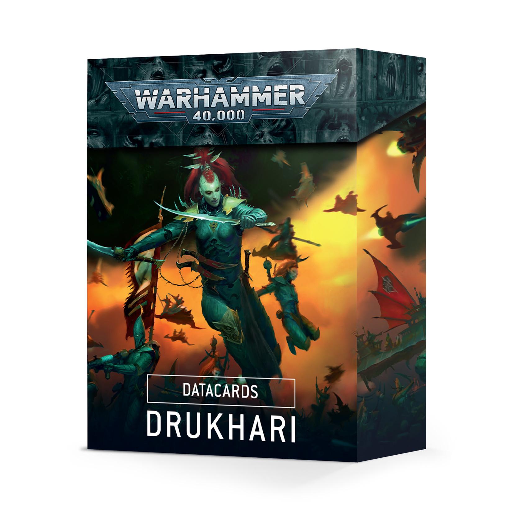 Games Workshop Warhammer 40k: Drukhari - Datacards