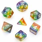 Foam Brain FB Translucent Rainbow RPG Dice Set