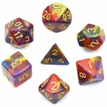 Foam Brain FB Vivid Color Blend RPG Dice Set