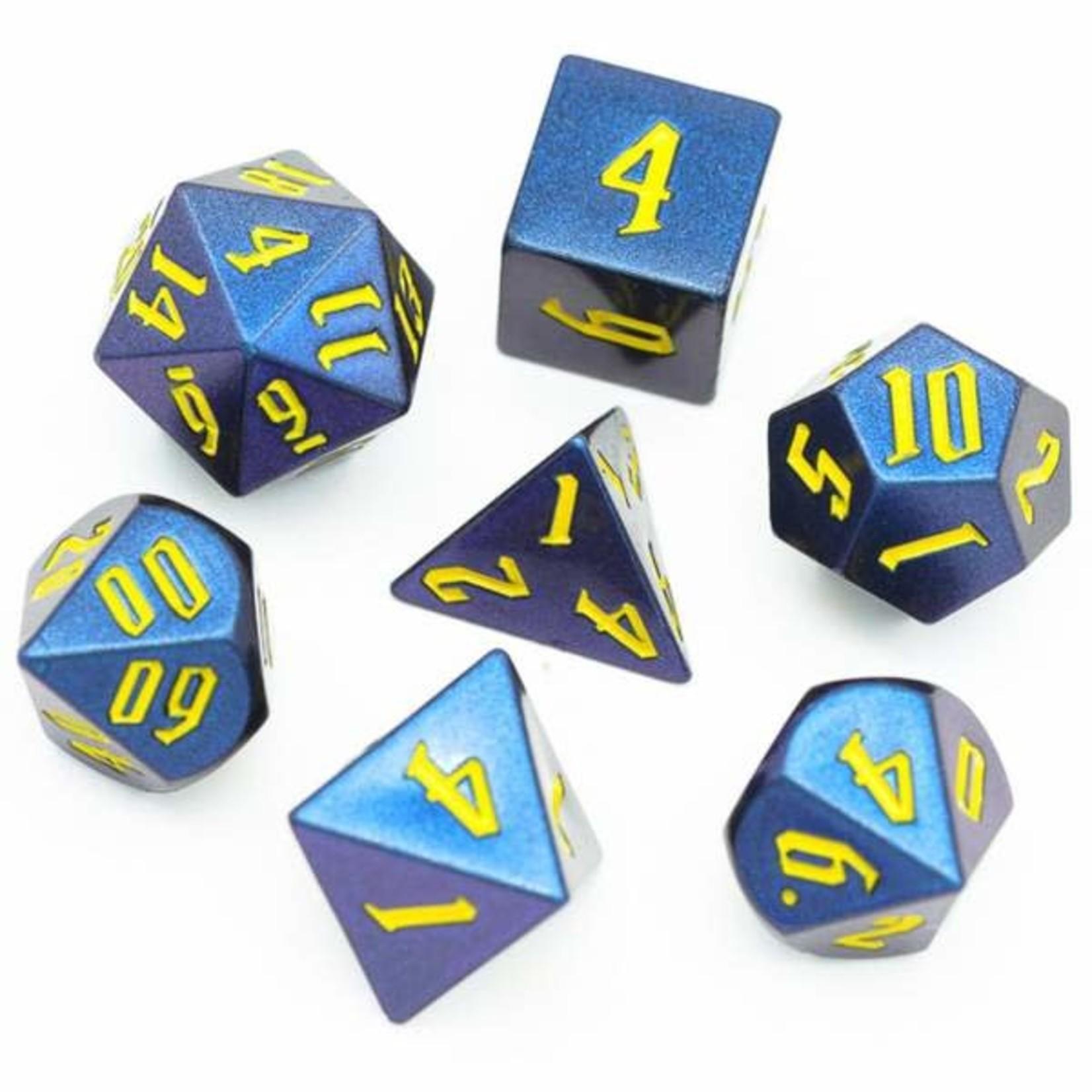 Foam Brain FB Jumbo Color Shifting RPG Dice Set - Purple/Blue