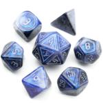 Foam Brain FB XL Cybernated Blue/Black RPG Dice Set