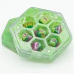 Foam Brain Resin Hexagon Dice Box - Green