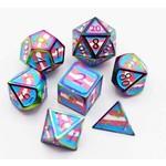 Foam Brain FB Pride Flag: Trans RPG Dice Set - Metal