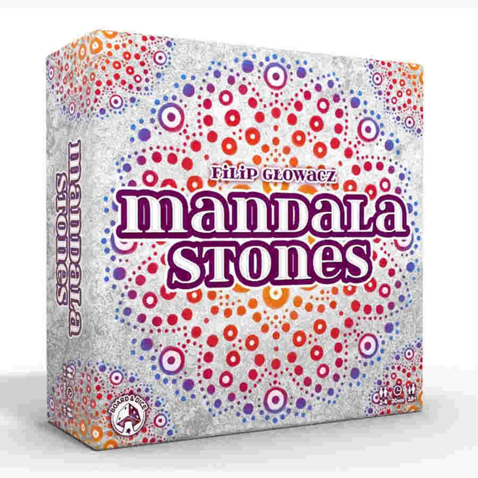 Board and Dice Mandala Stones